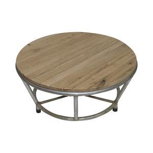 tafel alu/eiken rond 100 cm